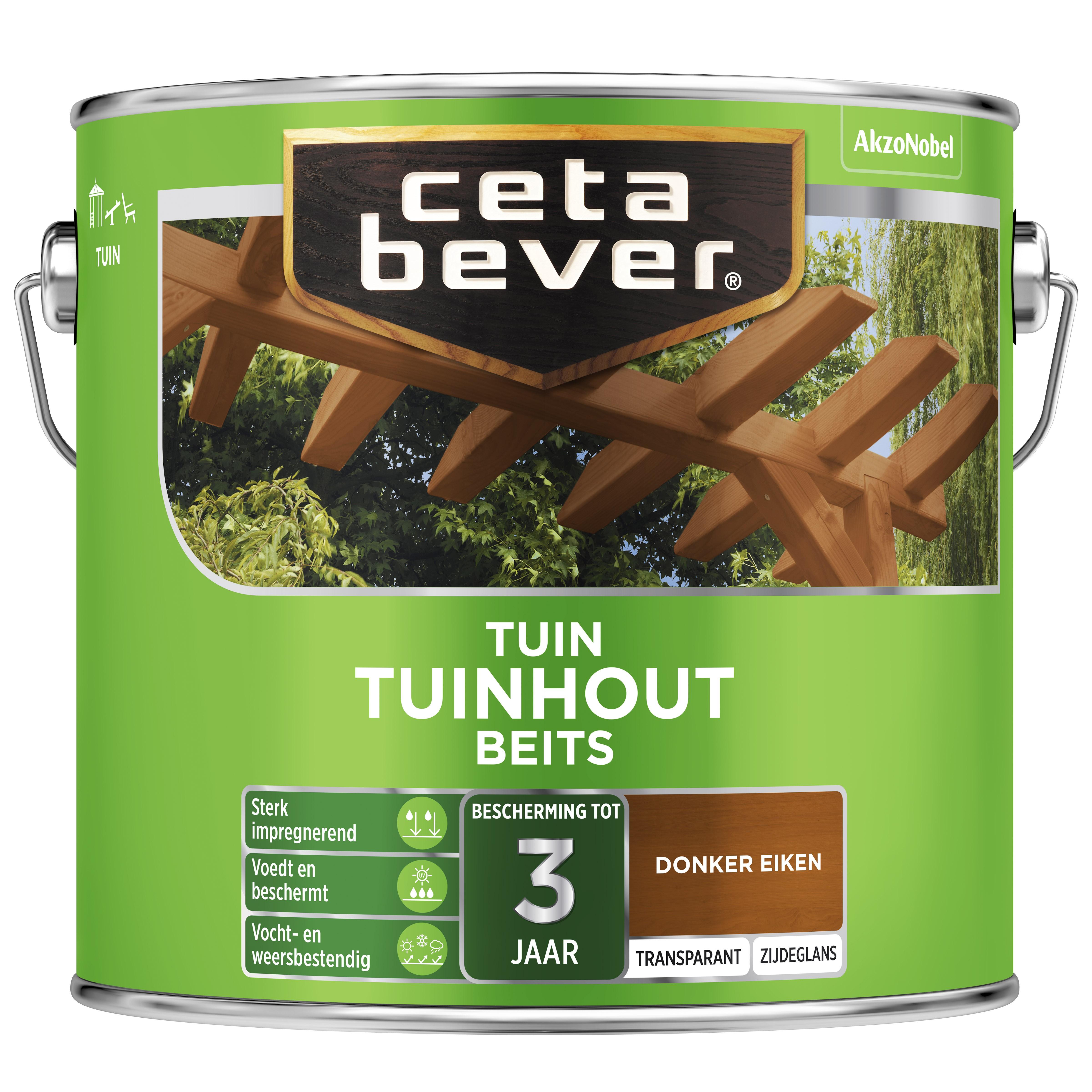 Afbeelding van CetaBever Tuinbeits Transparant 2,5 liter donker eiken 009