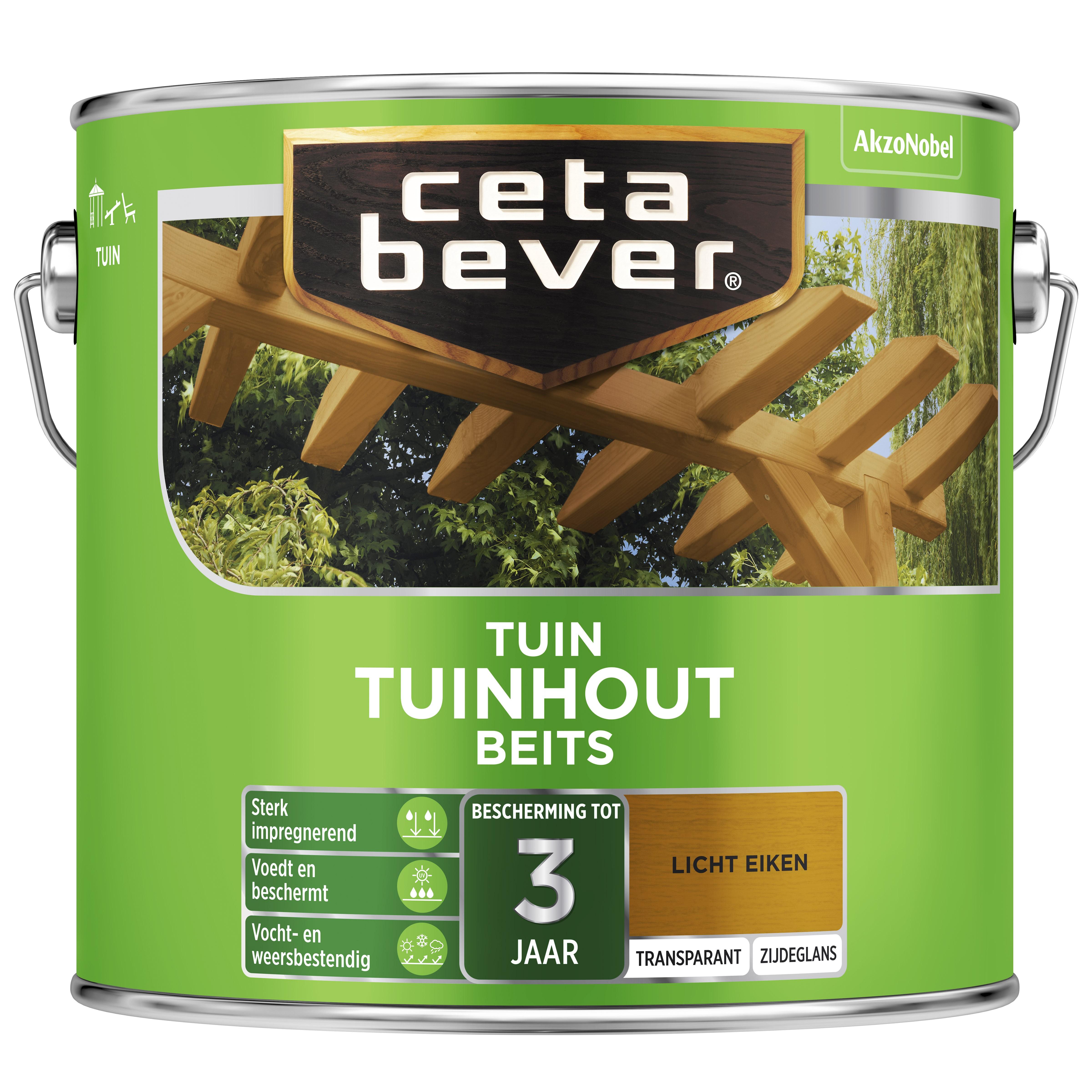 Afbeelding van CetaBever Tuinbeits Transparant 2,5 liter licht eiken 006