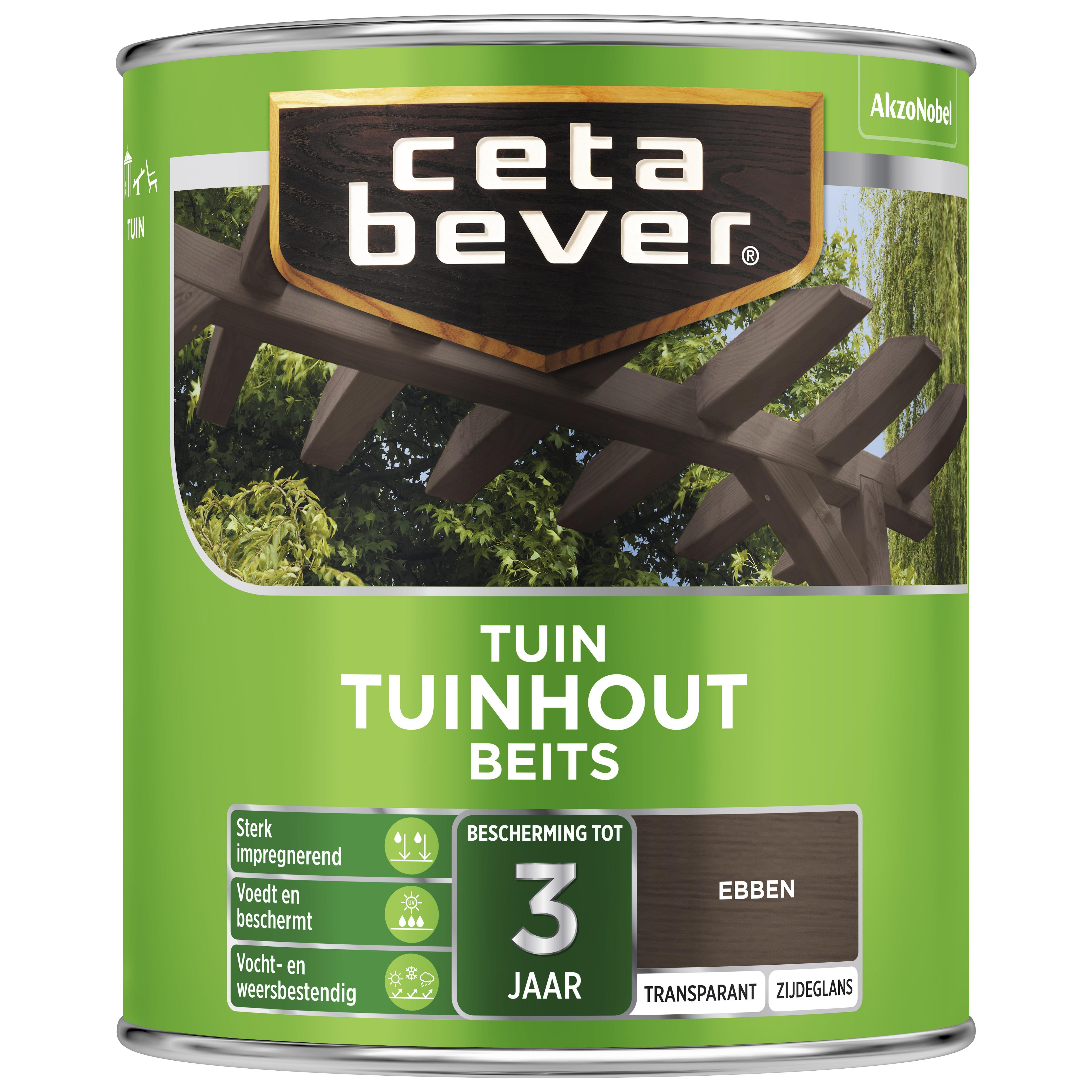 Afbeelding van CetaBever Tuinbeits Transparant 0 75 liter ebben 035