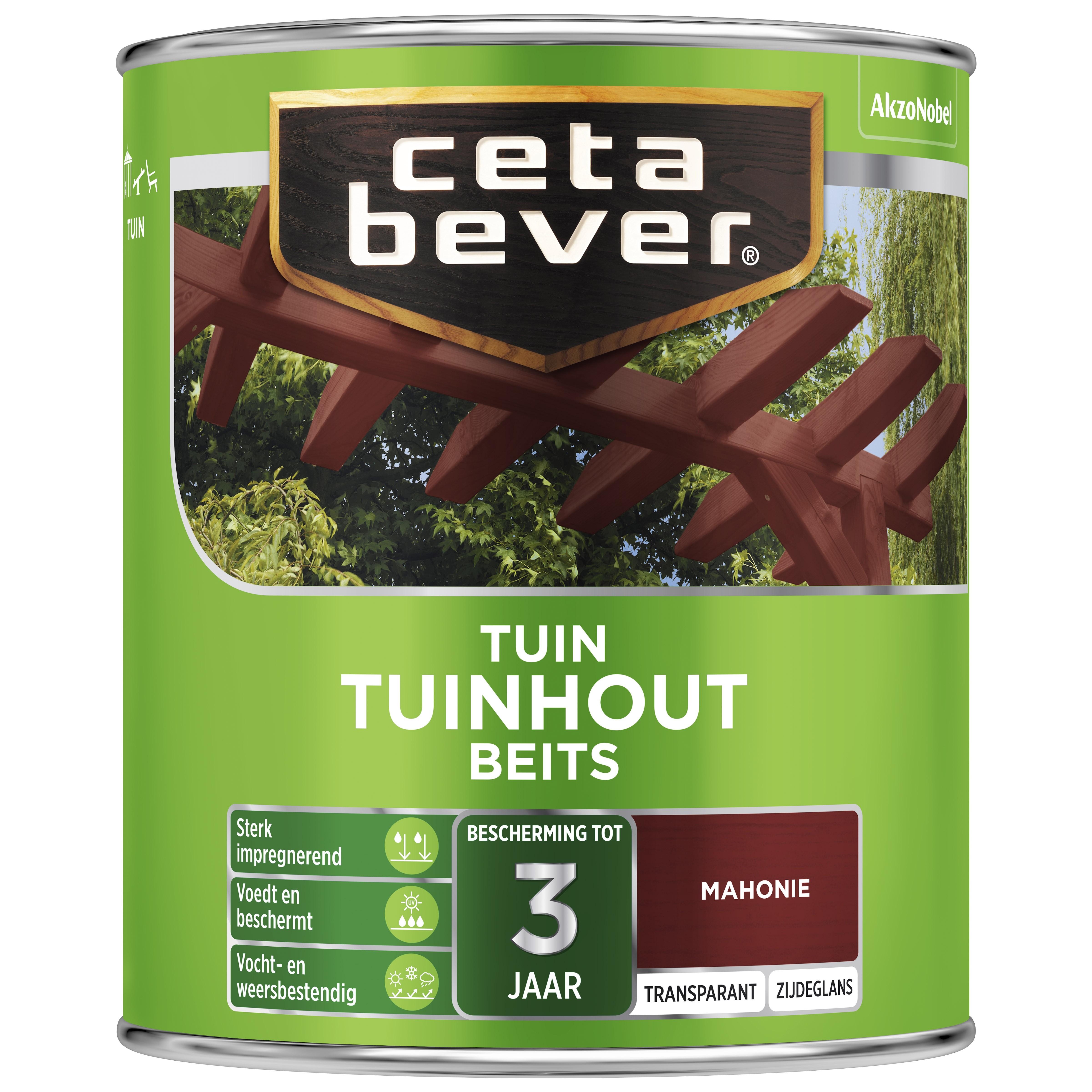 Afbeelding van CetaBever Tuinbeits Transparant 0 75 liter mahonie 045