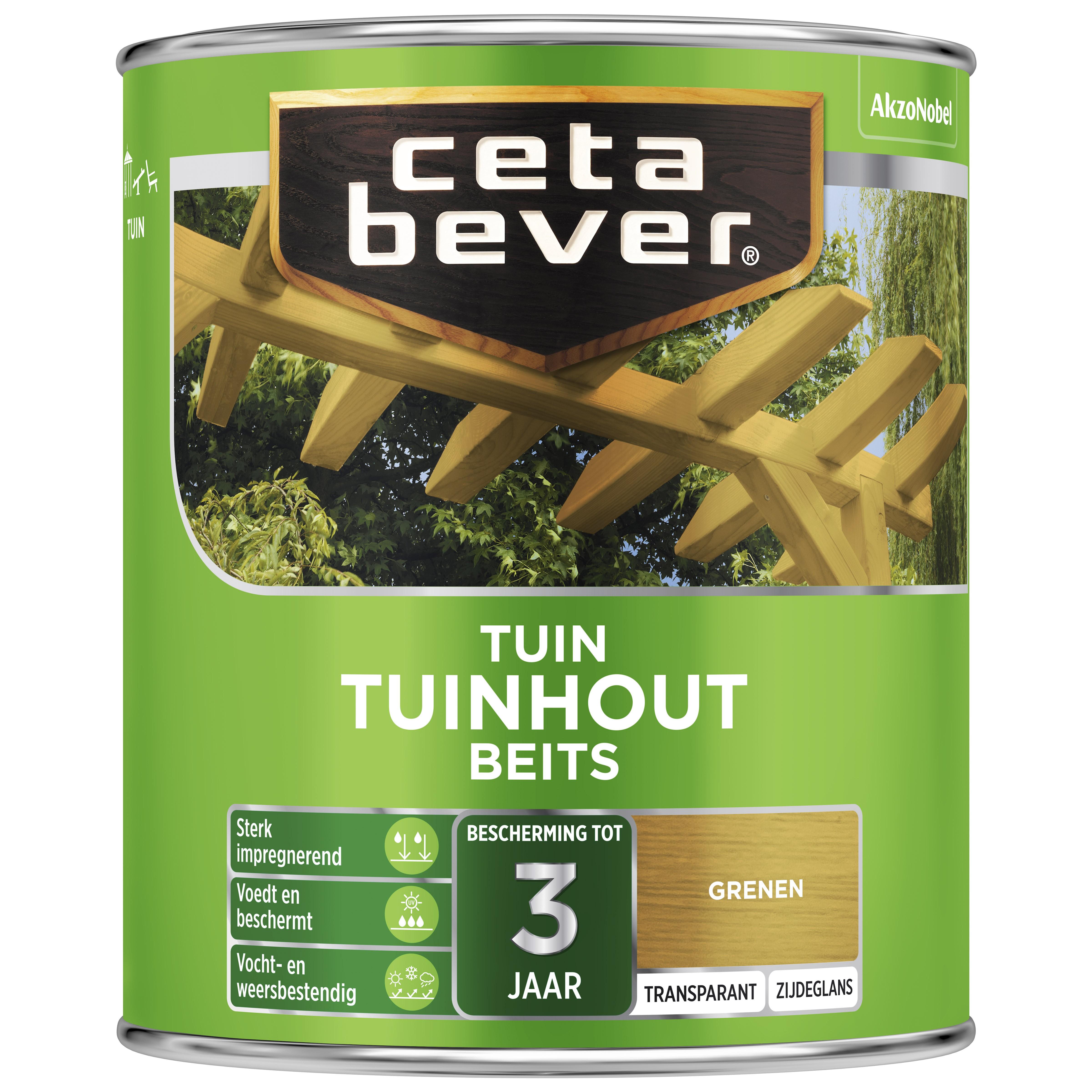 Afbeelding van CetaBever Tuinbeits Transparant 0 75 liter grenen 077