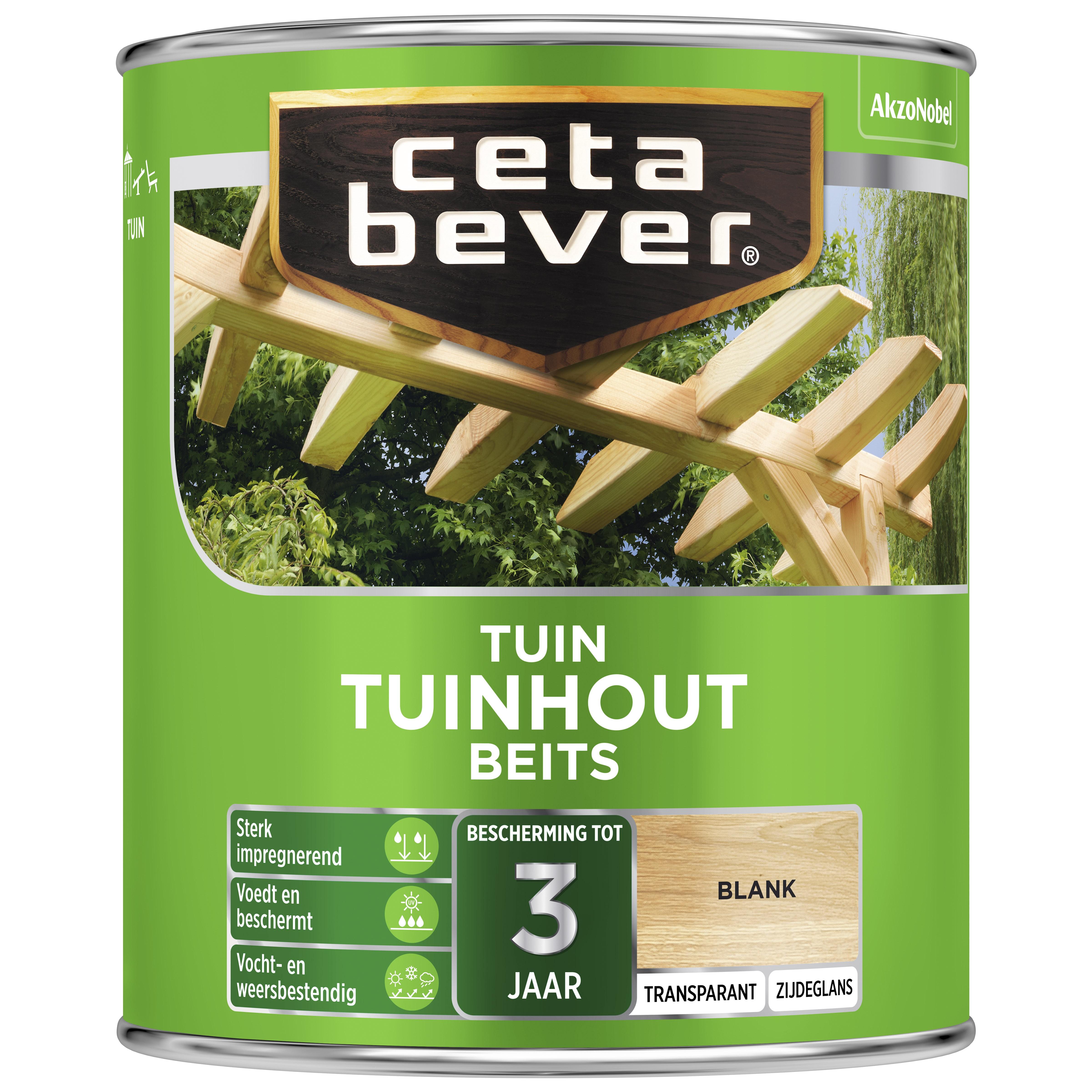 Afbeelding van CetaBever Tuinbeits Transparant 0 75 liter blank